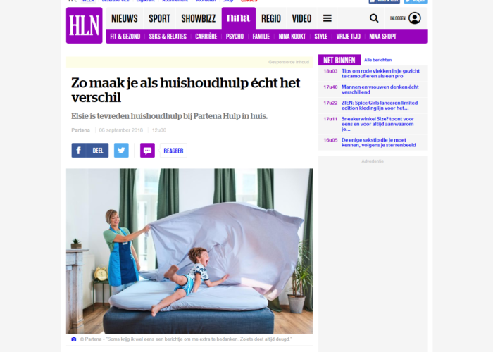Copywriting branded content HLN.be