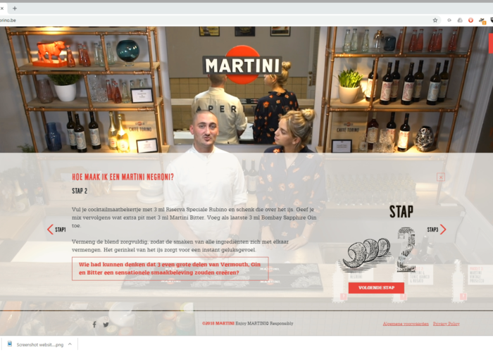 Online copywriting Martini