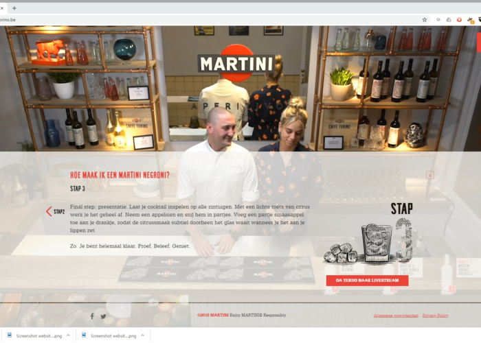 Caffe Torino Martini website copywriting