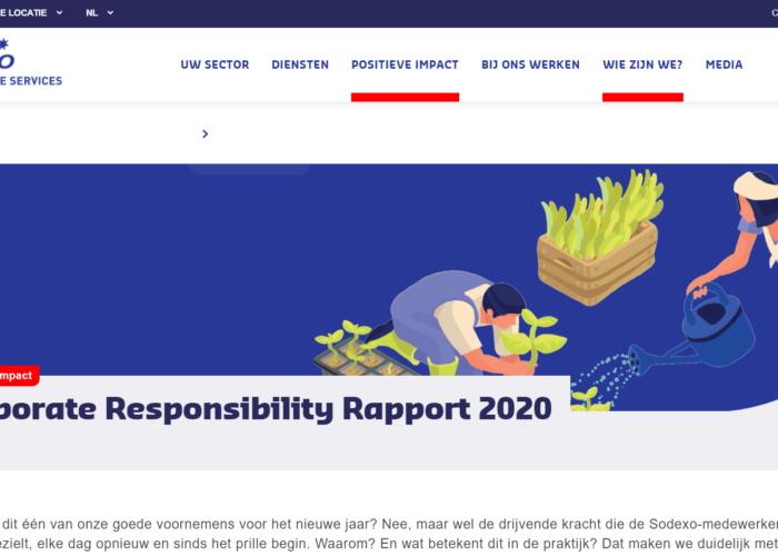 Sodexo CSR Rapport online